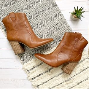 Aerosoles Lincoln Square Western Ankle Boots 9.5